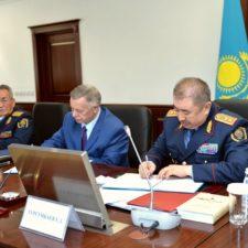 Встреча Министра внутренних дел Республики Казахстан с представителями частных охранных организаций